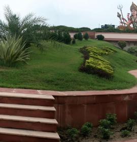 View of Front Lawn at Vaishno Devi Dham Vrindavan by J C Chaudhry Numerologist India